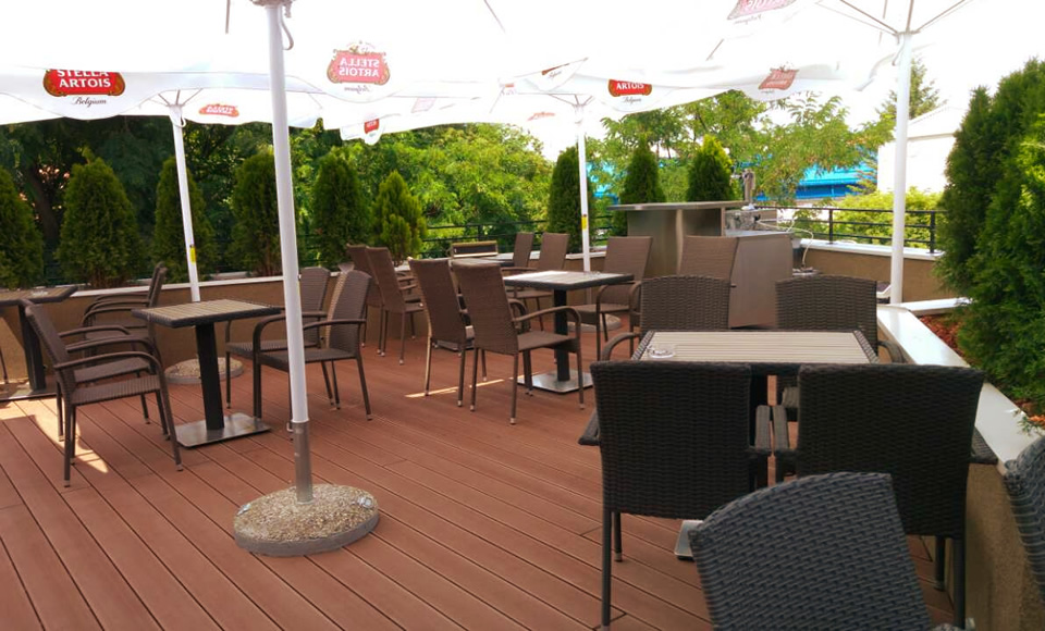 Restaurant terrace A new oasis of peace